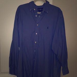 Ralph Lauren Yarmouth Blue Button Up.